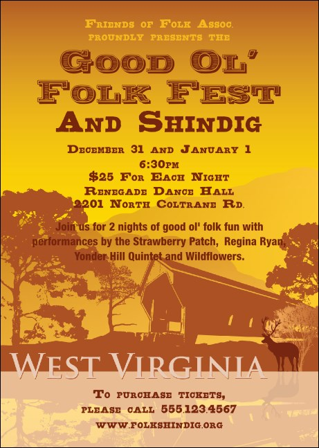 West Virginia Club Flyer Product Front