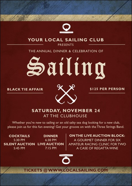 Sailing Club Flyer Product Front
