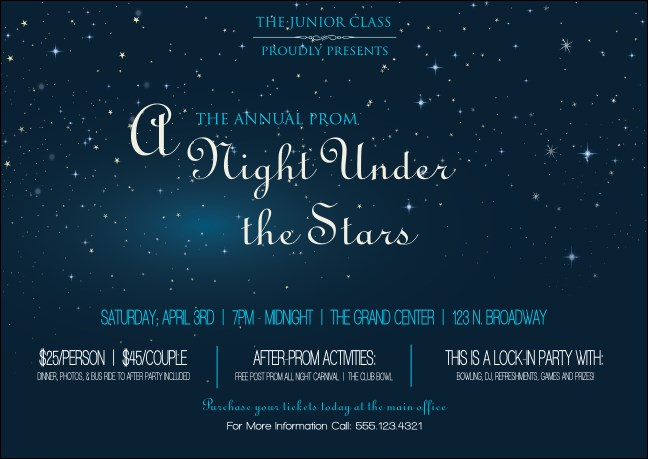 Star Theme Club Flyer