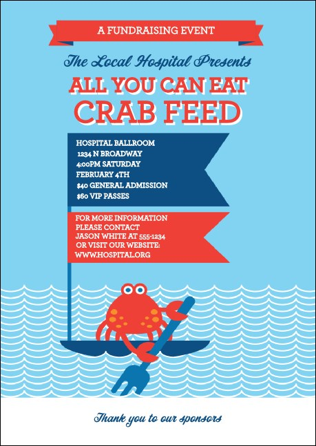 Crab Feed Club Flyer