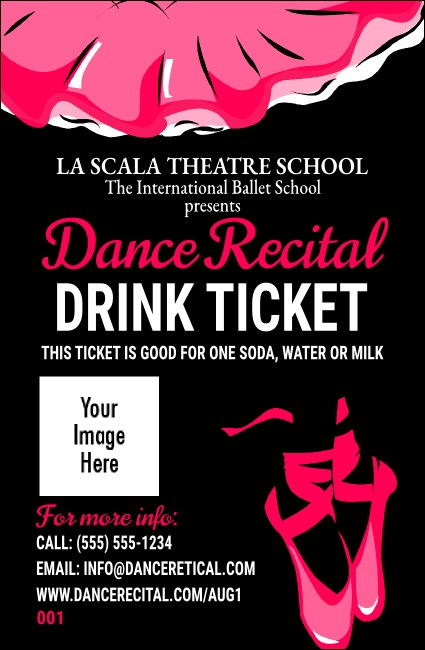 Dance Recital Drink Ticket