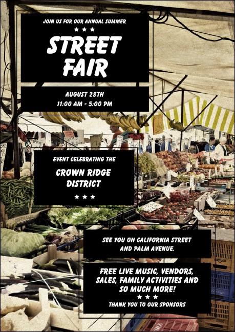 Street Fair Market Club Flyer