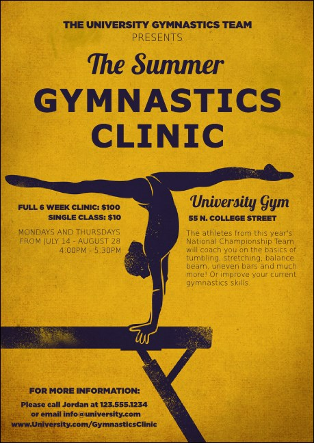 Gymnastics Club Flyer