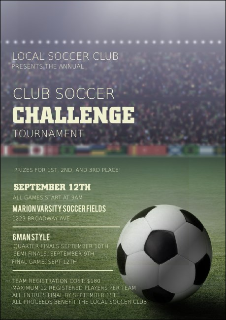 Soccer Stadium Club Flyer