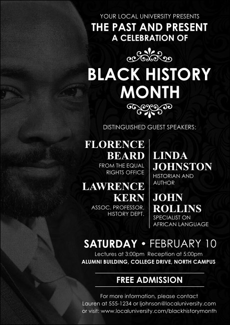 Black History Month Club Flyer Product Front