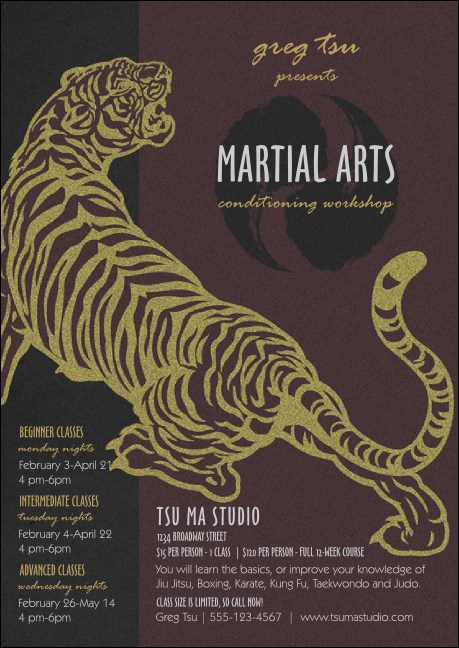 Martial Arts Club Flyer Product Front