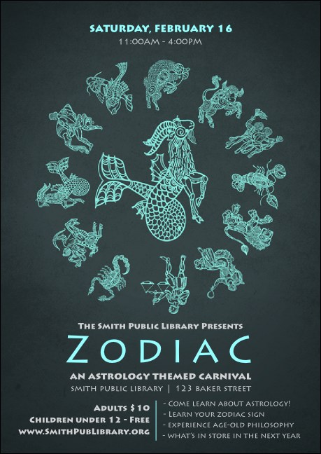 Zodiac Club Flyer