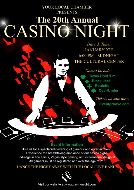 Casino Dealer Club Flyer