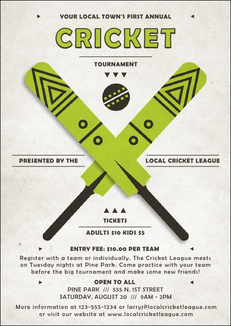 Cricket Club Flyer