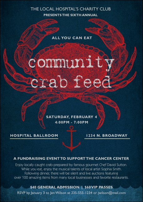 Crab Dinner Club Flyer
