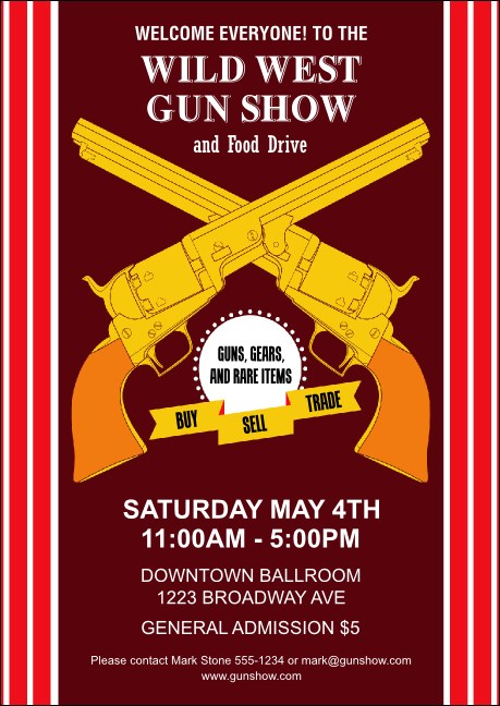 Gun Show Club Flyer