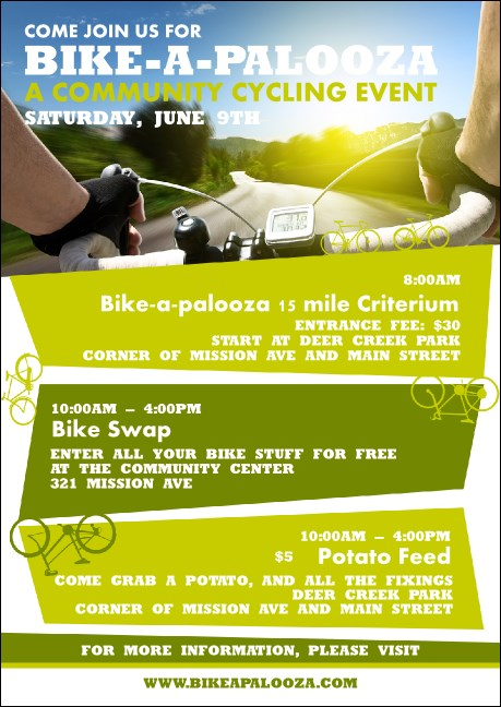 Bike A Palooza Club Flyer Product Front