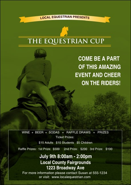 Equestrian Club Flyer